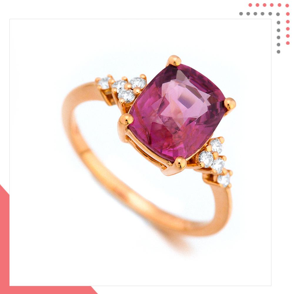 Divine Gems Pink Antheia Floral Diamond 18K Rose Gold Ring