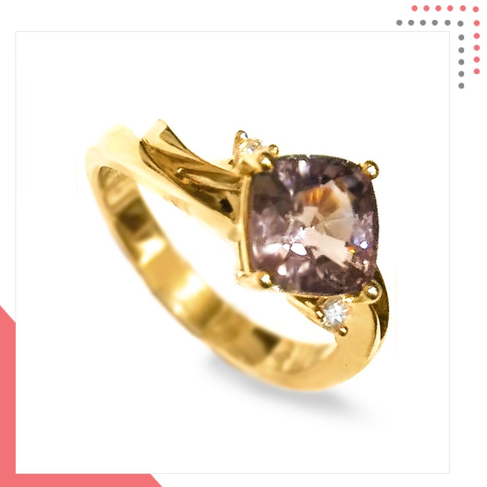 Divine Gems Lilac Urania in 18K Rose Gold