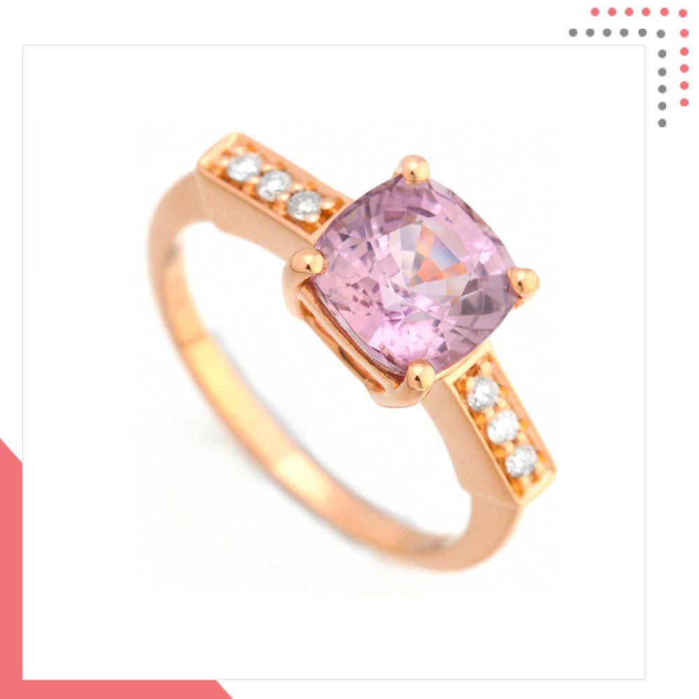 Divine Gems Lilac Antheia Bed 18K Rose Gold Ring