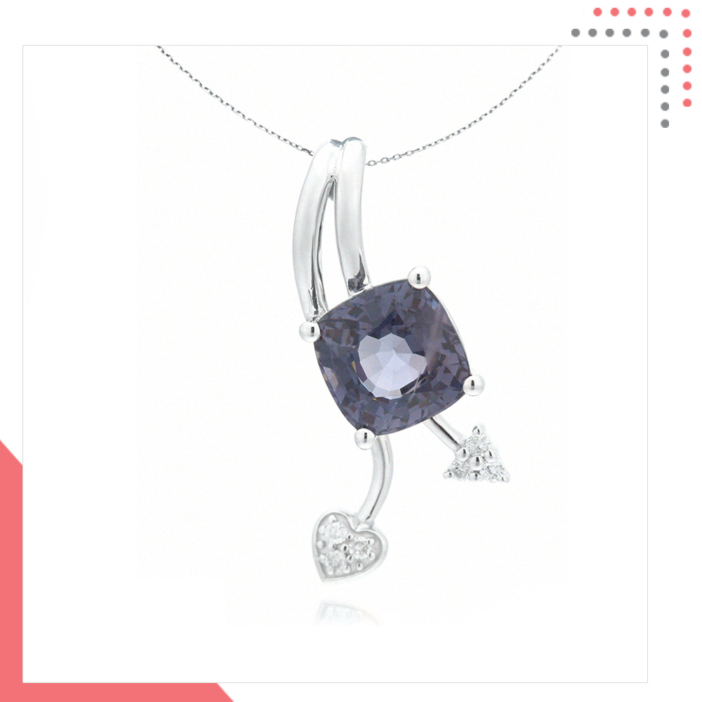 Divine Gems Space Urania Lovelift 18K White Gold Pendant