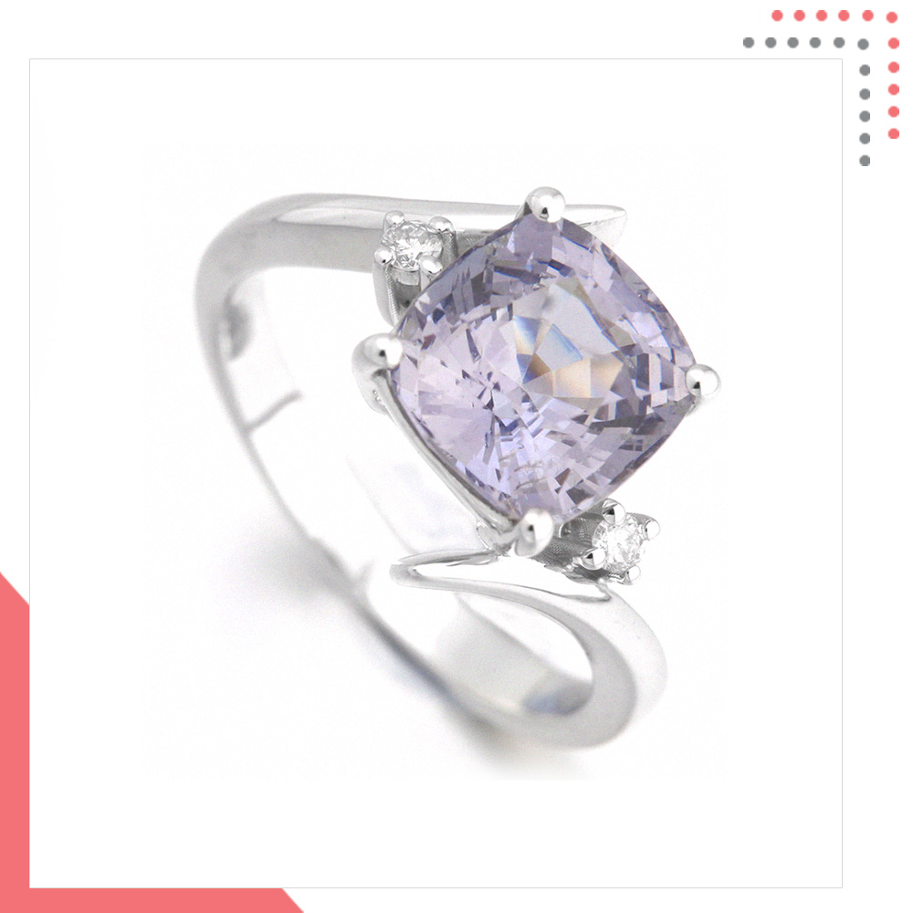 Divine Gems Lilac Antheia Intertwine18K White Gold Ring