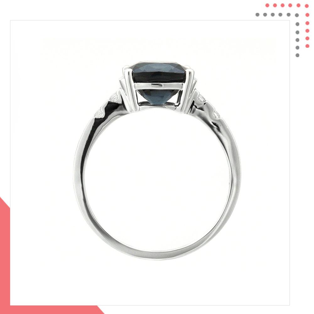 Divine Gems Hebe Black Trust 18K White Gold Ring