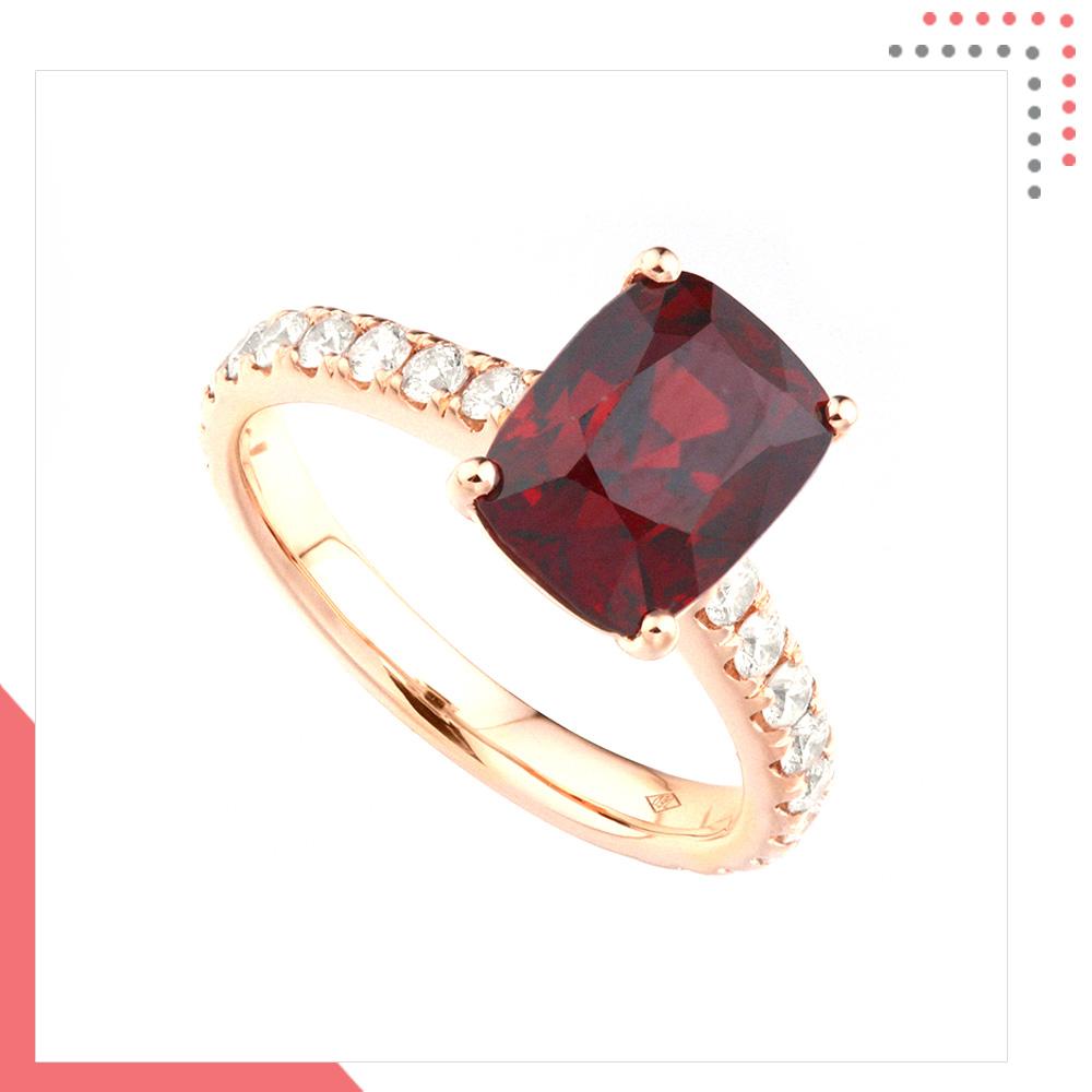 Divine Gems Premium Purple Erato 18K White Gold Ring